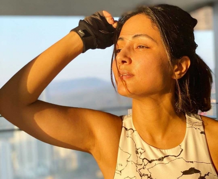 Hina Khan's workout tip: 'Wearing stylish' matters when you sweat it out