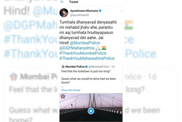 Bollywood thanks Mumbai Police for their service amid lockdown