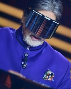 Big B wears face shield on KBC 12 set, urges all to be safe