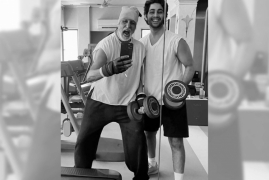 Big B is 91 kg and 'off to the gym'