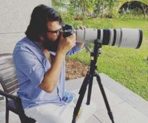 Mammooty turns photographer for his 'morning guests'