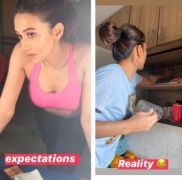 Mimi shares funny expectation vs reality post during lockdown
