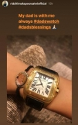 Riddhima wears her late father Rishi Kapoor's watch