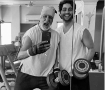 Big B sweats it out with grandson Agastya Nanda