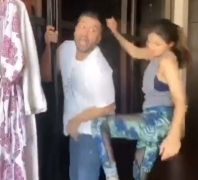 Shilpa Shetty's funny video of hubby, domestic help and kissing